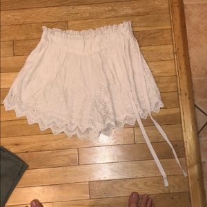 Free people shorts skirt lace bottoms